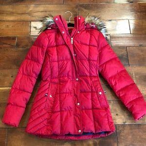 Tommy Hilfiger faux fur trim box- quilted coat